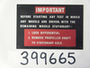 Instruction plate 'Differential lock'