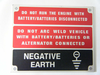 Negative earth plate