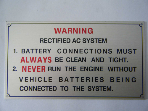AC rectified plate