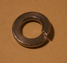 Wheel cylinders fixing spring washer